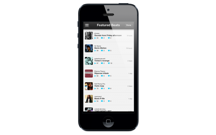 iMPC for iPhone - Song List